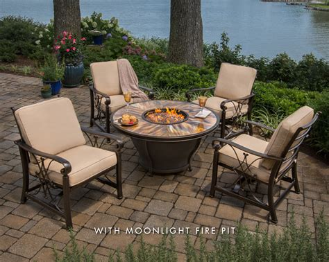 firepit chat sets water way pools