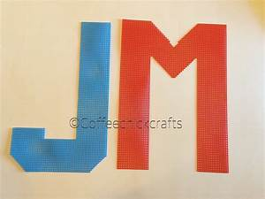 135quot large individual letters made of plastic canvas for Large plastic alphabet letters