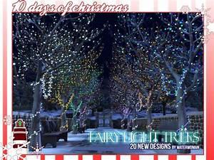 Fairy Light Trees by Waterwoman at Akisima » Sims 4 Updates