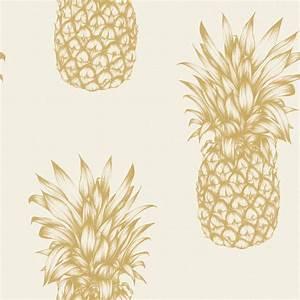 arthouse tropics copacabana pineapple wallpaper gold black With markise balkon mit tapete creme gold