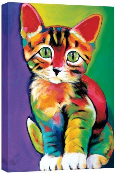 ron burns griffin cat painting animal art cat colors