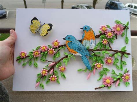 pin  nancy klarer  quilling pinterest birds  scene