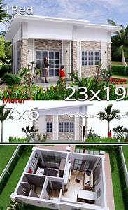 Small, House, Design, 7x6, Shed, Roof, 1, Bed, Pdf, Full, Plans, In