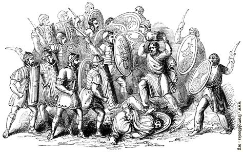conflict  romans  barbarians