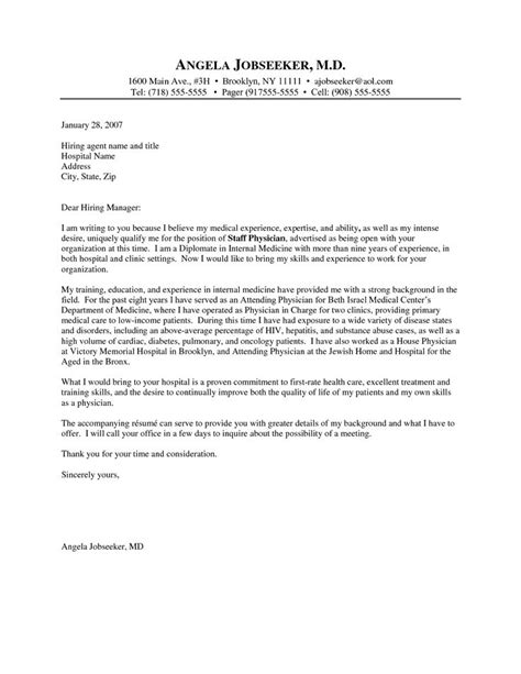 cover letter template for physicians