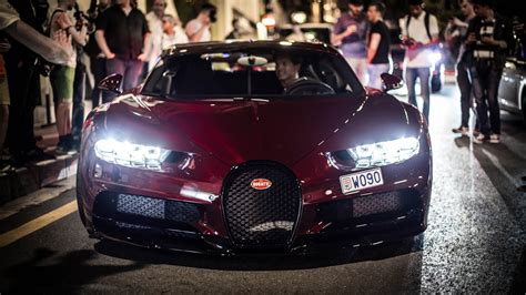 Bugatti chiron sport and pagani huayra bc tear through nyc with makeitblue rally | event edit. RED CARBON 1500 HP Bugatti Chiron in Monaco! - YouTube