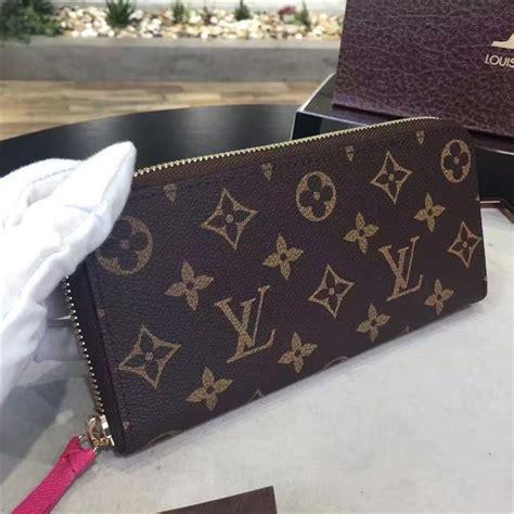 louis vuitton monogram clemence wallet hot pink aaa handbag