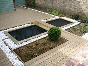 bassin et terrasse bois in the garden pinterest With terrasse bois avec bassin