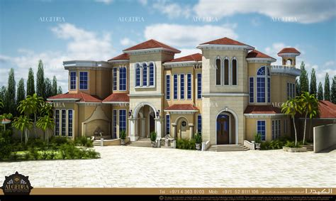 exterior villa dubai interior algedra modern andalusian residential villas elevation designs coroflot discuss elegant touch traditional
