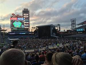 Citizens Bank Park Seating Chart Concert Citizens Bank Park Section 114 Row 33 Seat 16 Billy