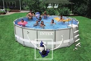 Aspirateur Hydraulique Piscine Hors Sol : piscine hors sol ultra frame 5 49 m h 1 32 m intex ~ Premium-room.com Idées de Décoration