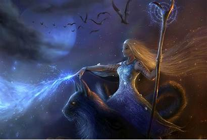 Witch Halloween Wiccan Fantasy Deviantart Wallpapers Screensaver