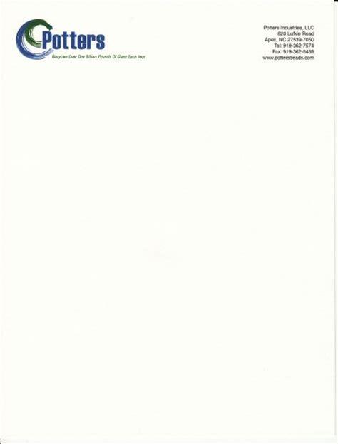 business letterhead stationery sample