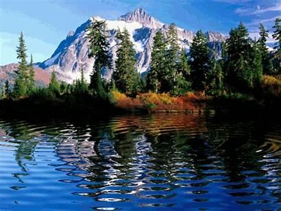 Mountain Scene Mountains Scenery Gifs Montanhas Lake