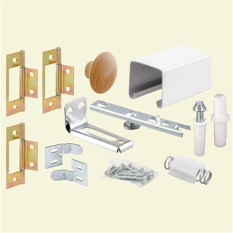 bifold closet door hardware prime line 24 in bi fold closet door track kit 164684