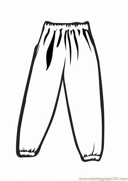 Pants Coloring Pages Snow Sheets Template Coloringpages101