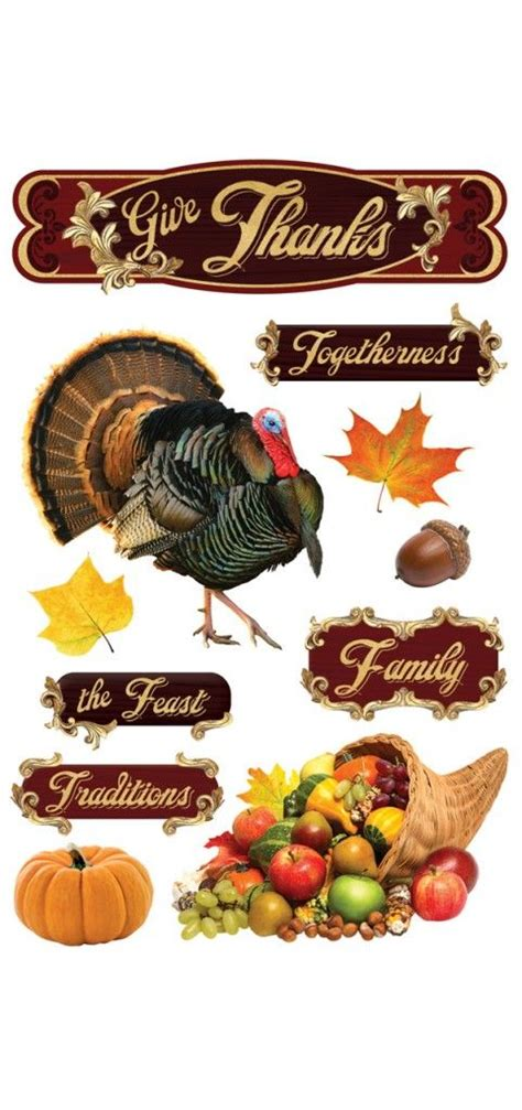 scrapbook thanksgiving stickers festival collections