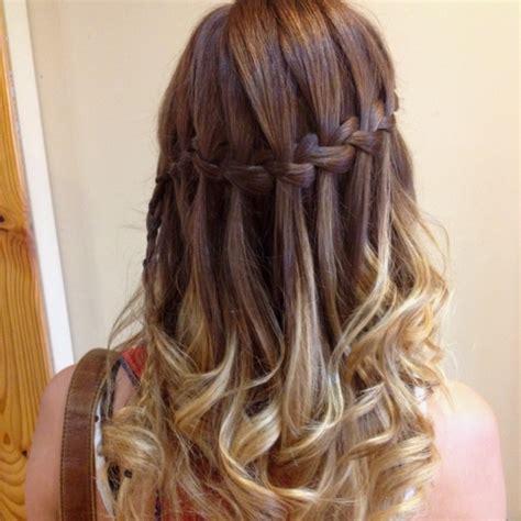 waterfall braid hair styles