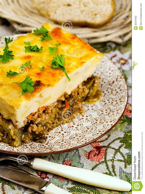 national cuisine of national cuisine mussaka stock photography image