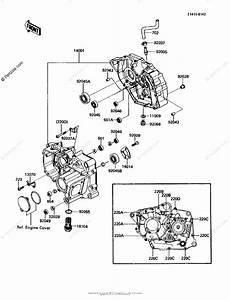 Kawasaki Atv 1986 Oem Parts Diagram For Crankcase