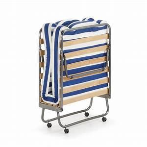 Lit pliable avec matelas 80 x 190 jamaica par drawerfr for Tapis exterieur avec canapé lit pliant