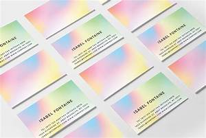 Color fades business card hello mart for Business card colors