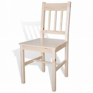 acheter 6 pcs chaise salle a manger en bois naturel pas With salle À manger contemporaineavec chaise bois pas cher