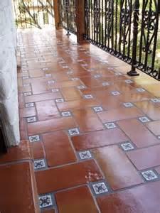 6x12 super saltillo tile with 2x2 talavera decorative