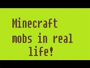 Minecraft mobs in real life (monsters) - YouTube