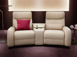 leder sofa heim kinosofa leder garnitur relax tv sofa kino sessel fernsehsessel 2er ebay