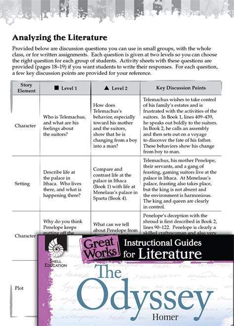 odyssey leveled comprehension questions teachers