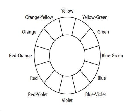 color wheel template 6 sle color wheel charts sle templates
