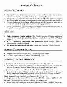 9 academic cv templates download for free sample templates for Academic cv template word