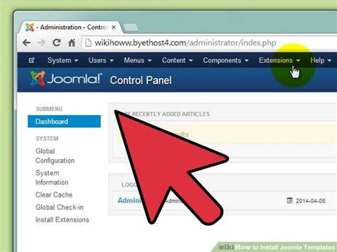 How To Upload A Template In Joomla by How To Install Joomla Templates 7 Steps With Pictures