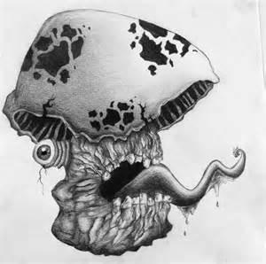 Trippy Mushroom Drawings Pencil