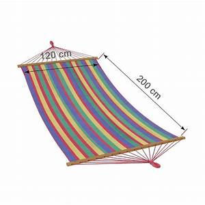 Toile De Hamac XXL STRIPES 200 X 120 Cm 100 Coton