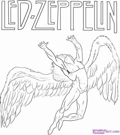 Zeppelin Led Swan Song Draw Angel Record