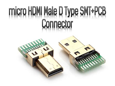 Micro Hdmi Male D Type Smt+pcb Connector