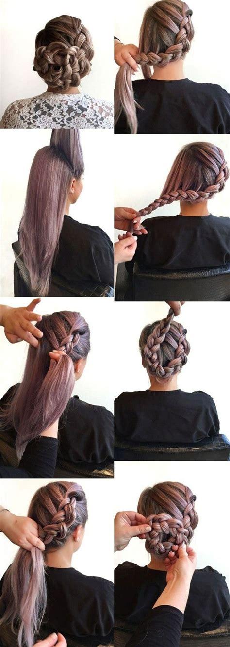 einfache frisuren lange glatte haare zopf frisur selber