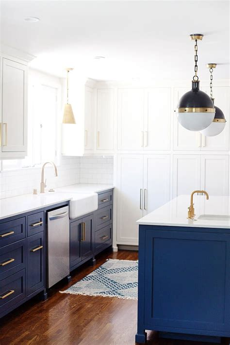 A Twotoned Blueandwhite Kitchen Remodel  Glitter Guide. Brown's Country Kitchen Portersville Pa. White Kitchen Hob. Kitchen Set New Zealand. Kitchen Stove Top Covers. Kitchen Glass Door Cabinets. Kitchen Backsplash With Red Accents. Kitchen Door Chords Wolf Larsen. Interior Design Kitchen Living Room