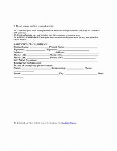 volunteer waiver of liability form template free download With volunteer waiver form template