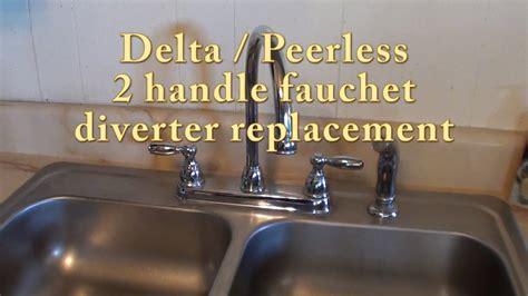 delta peerless  handle faucet diverter replacement