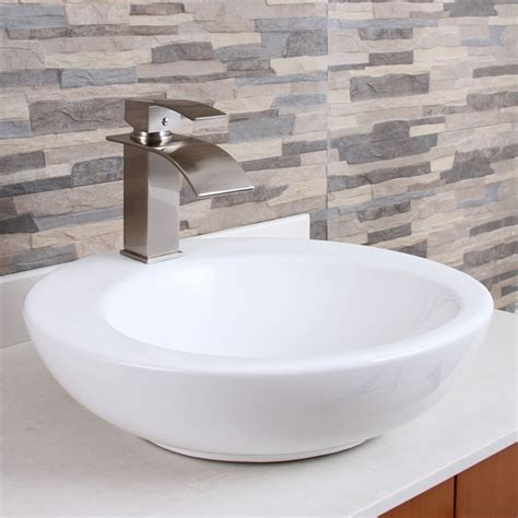 Bathroom Sink by Elite Modern Bathroom Sink Waterfall Faucet Brushed Nickel