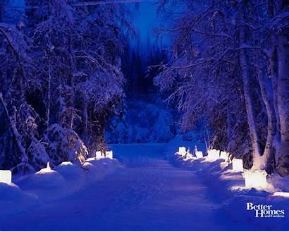 Winter Desktop Wallpapers Peaceful Christmas Scenery Desktops