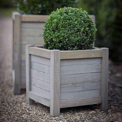 planter lavande en pot wood planter