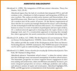 APA Format Annotated Bibliography Example