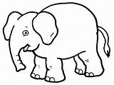 Elephant Pages Coloring Printable sketch template