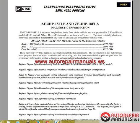 atsg transmission 4hp18 22 24 technical service auto repair manual forum heavy equipment