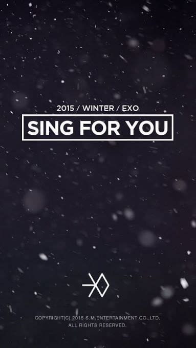sing for you exo exo sing for you korean and version is released