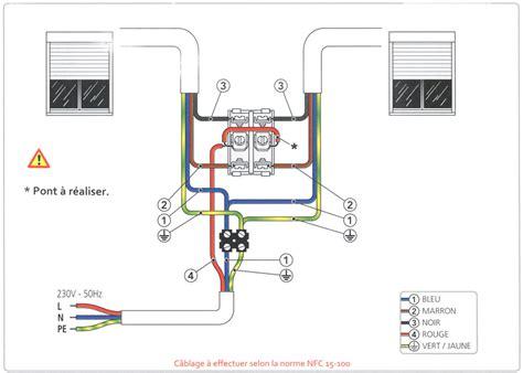 deux les sur un interrupteur notices de c 226 blage et branchement volets roulants